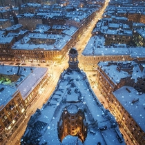 Winter in Saint Petersburg Russia