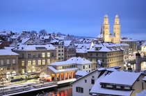 Winter in Zurich Switzerland