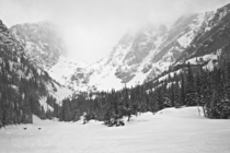 Winter is just so great for Black and White heres Dream Lake from  days ago in RMNP