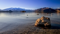 Winter morning at Lake Wanaka New Zealand