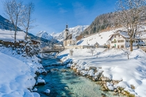 Winter morning in Berchtesgaden Germany