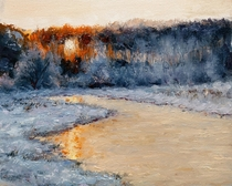 Winter Morning Oil on canvas panel x cm Me