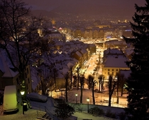 Winter night in Bergen Norway