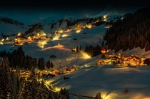 Winter night in Damls Austria
