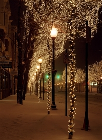 Winter night in Littleton Colorado
