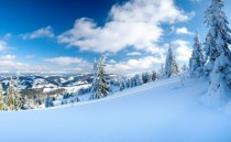 Winter on a mountain slope