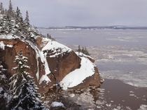 Winter on the Bay of Fundy - Hopewell Rocks New Brunswick