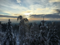 Winter on top of Oslo