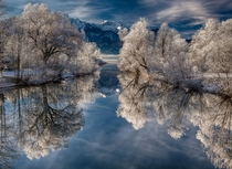 Winter reflections in Bavaria