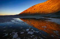 Winter shot of Badwater Basin located in Death Valley National Park California