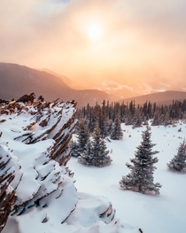 Winter snowstorm hits Colorados side country Echo Mountain Mt Evans Wilderness Co OC x