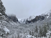 Winter storm in Yosemite Thanksgiving