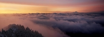 Winter Sunrise Pano from Mt Pilchuck