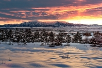 Winter Sunset in Cache Valley UT