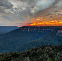 Winter sunset in the Blue Mountains NSW Australia  x