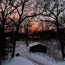 Winter view from my house in Wisconsin