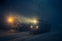 Winter Weather at Murmansk Railway Station Russia photo by Vitaliy Novikov