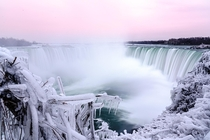 Winter wonderland at Niagara Falls