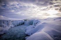 Winter wonderland at Selfoss Iceland