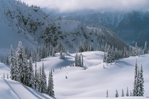 Winter wonderland in the British Columbian Mountains