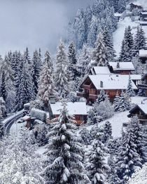 Winter wonderland in Verbier Switzerland