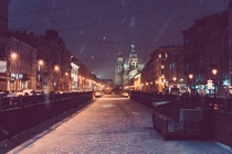 Winter wonderland on the Russian canals - St Petersburg  by Alessandro Fabbrini x-post rRussiaPics