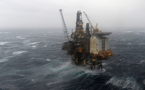 Wintershalls offshore platform in the Brage oil field of the North Sea