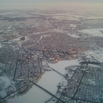 Wintery Ottawa from the air