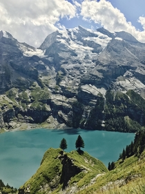 With all thats going on Im looking forward to going on hikes again to escape it all Heres a view of Oeschinensee Switzerland Stay safe folks