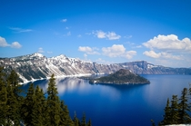 Wizard Island from the south - Crater Lake OR USA
