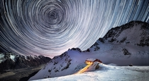 Woah Star Trails from the summit of Mount Cook New Zealand  by Jay Daley