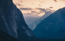 Woke up at am for this moody sunrise over Yosemite Valley CA