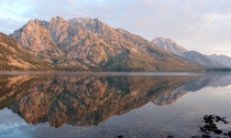 Woke up early to catch the sunrise at Jenny Lake in Grand Teton National Park I didnt expect it to be so perfect