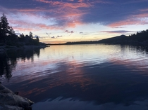 Woke up early to fish and captured this sunrise Big Bear Lake CA