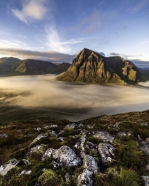 Woke up to a glorious cloud inversion in Glencoe Scotland