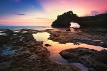 Wonderful sunset at Batu Bolong Bali Indonesia by Kembara Alam