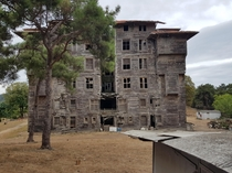 Wooden orphanage left to break itself apart Island near Istanbul
