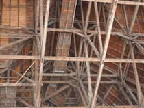wooden roofing construction