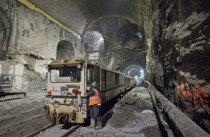 Work on tunnels leading into caverns underneath Grand Central Terminal