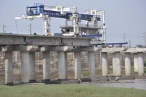 Work under progress on the Dedicated Freight Corridor India