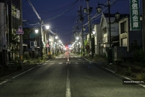 Working Streetlamps in an Area Abandoned After the Fukushima Disaster