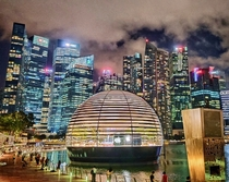 Worlds First Floating Apple Store rd flagship store in Singapore and th store globally Designed by Foster  Partners