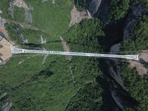 Worlds longest and highest glass bridge - Zhangjiajie National Park China