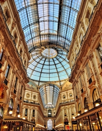 Worlds oldest shopping mall Galleria Vittorio Emanuele Milan