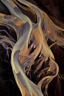 Would you believe that this is birds eye view of a river in Iceland which looks like modern art  - and I offer my whole portfolio of abstract landscapes for free during lockdown -gt see comment