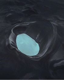 Would you swim in this Looks like from another planet maybe it is Iceland  x