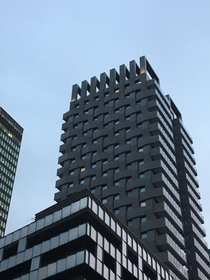 Woven building in Euston London