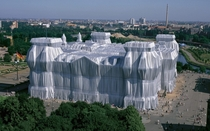 Wrapped Reichstag Christo and Jean Claude artists