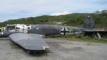 Wreck of German He  bomber from the set of Into the White Grotli Norway