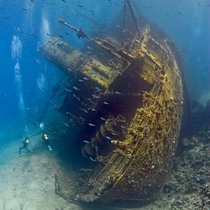 Wreck of merchant ship
